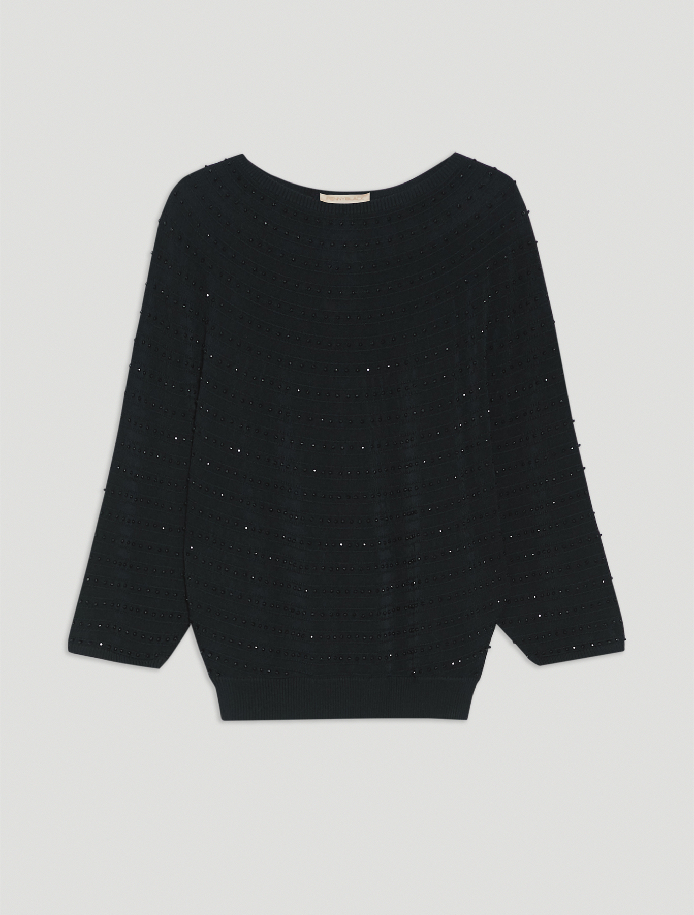Jumper with beaded embroidery - black - pennyblack