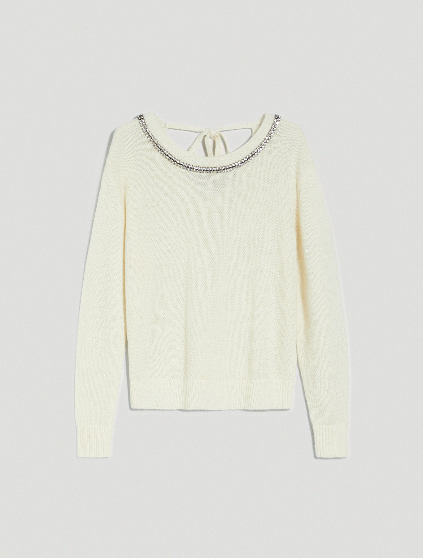 Jumper with rhinestones and sequins - ivory - pennyblack