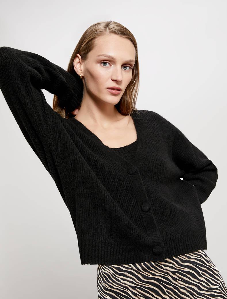 Twin set in blend di lana - nero - pennyblack