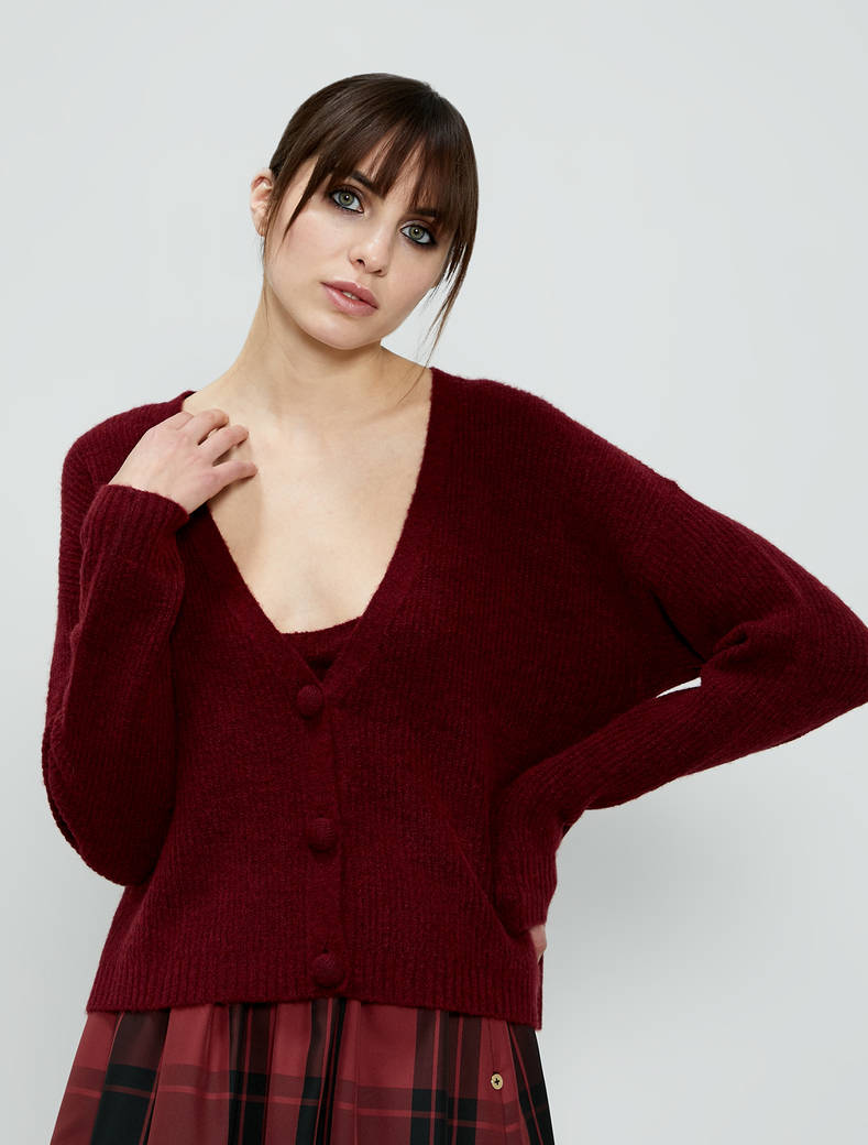 Twin set in wool blend - burgundy - pennyblack