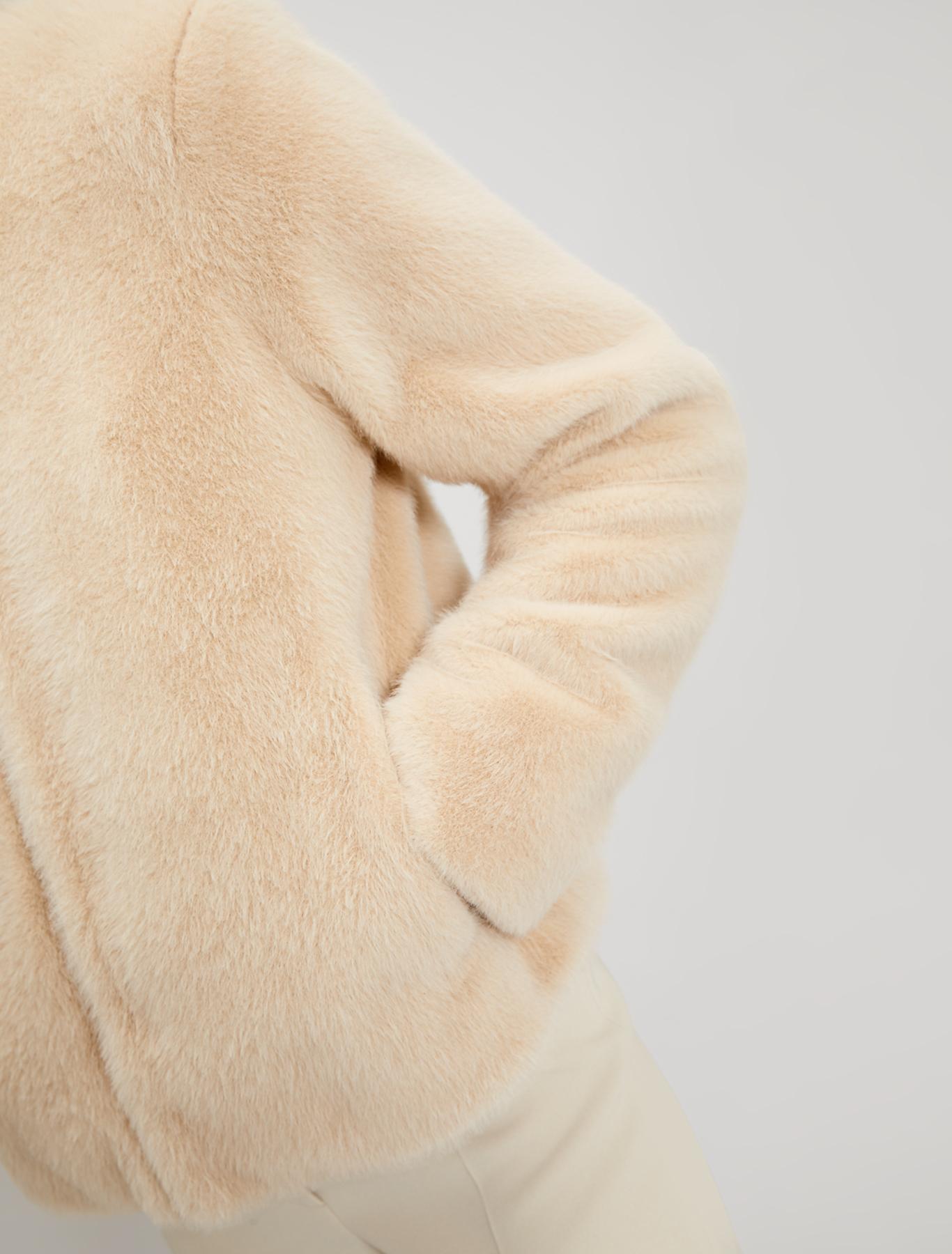 Plush jacket - beige - pennyblack