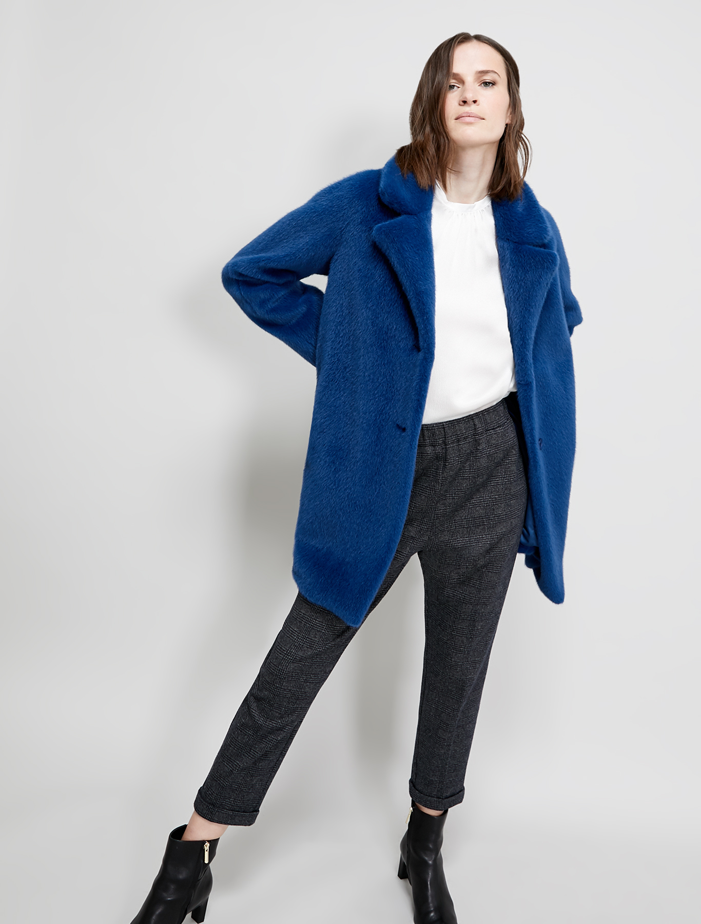 Plush coat - cornflower blue - pennyblack