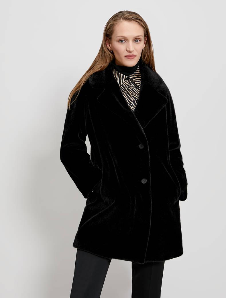 Plush coat - black - pennyblack