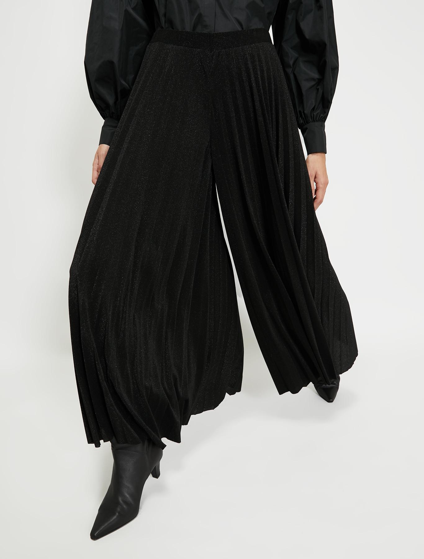 Lamé jersey culottes - black - pennyblack