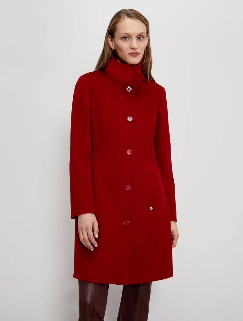 Wool velour coat - red - pennyblack