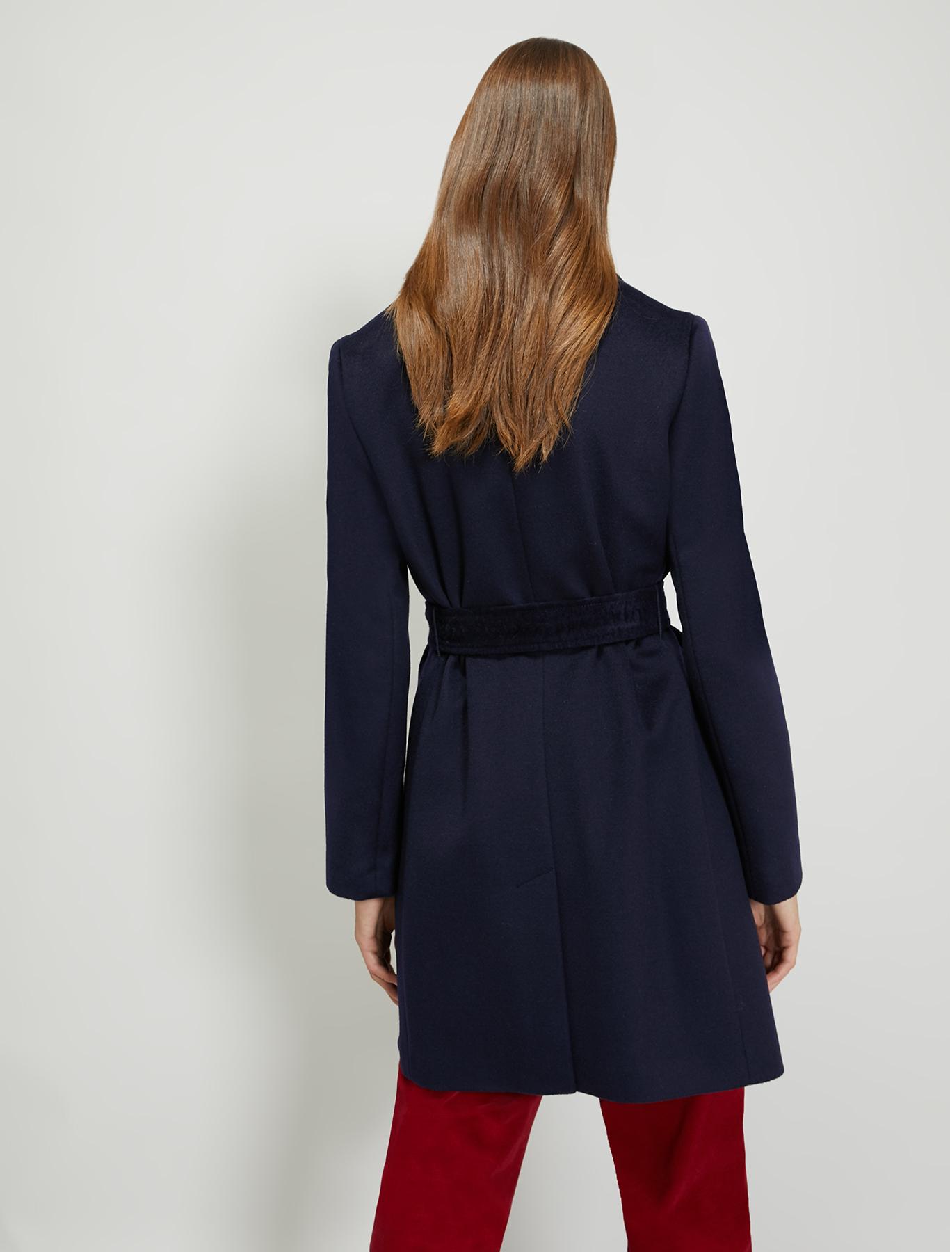 Pure wool coat - midnight blue - pennyblack