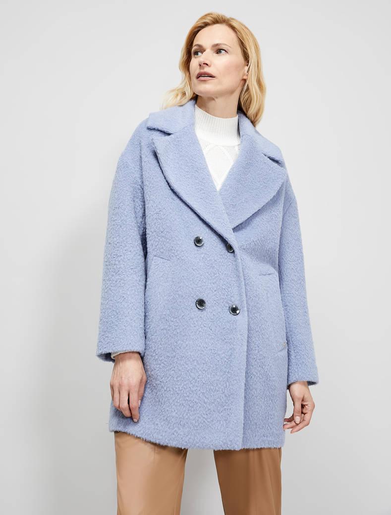 Wool and alpaca coat - air force blue - pennyblack
