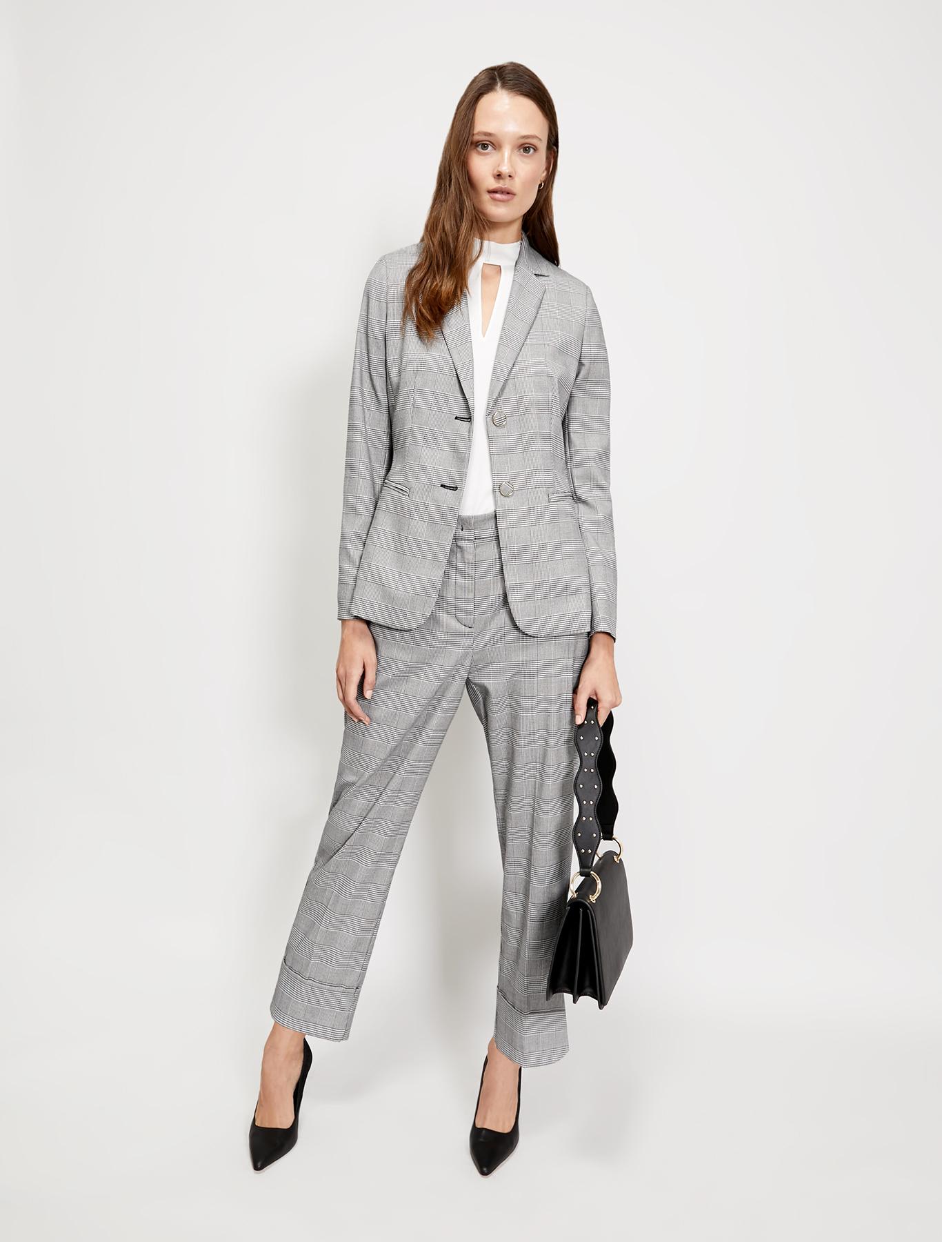 Slim two-button blazer - black pattern - pennyblack