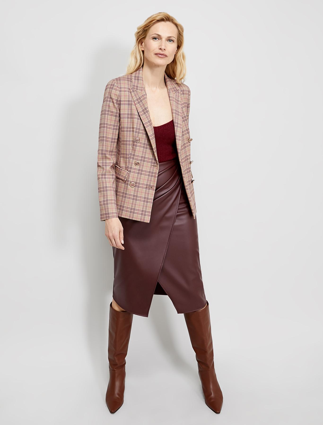 Check pattern blazer - beige pattern - pennyblack