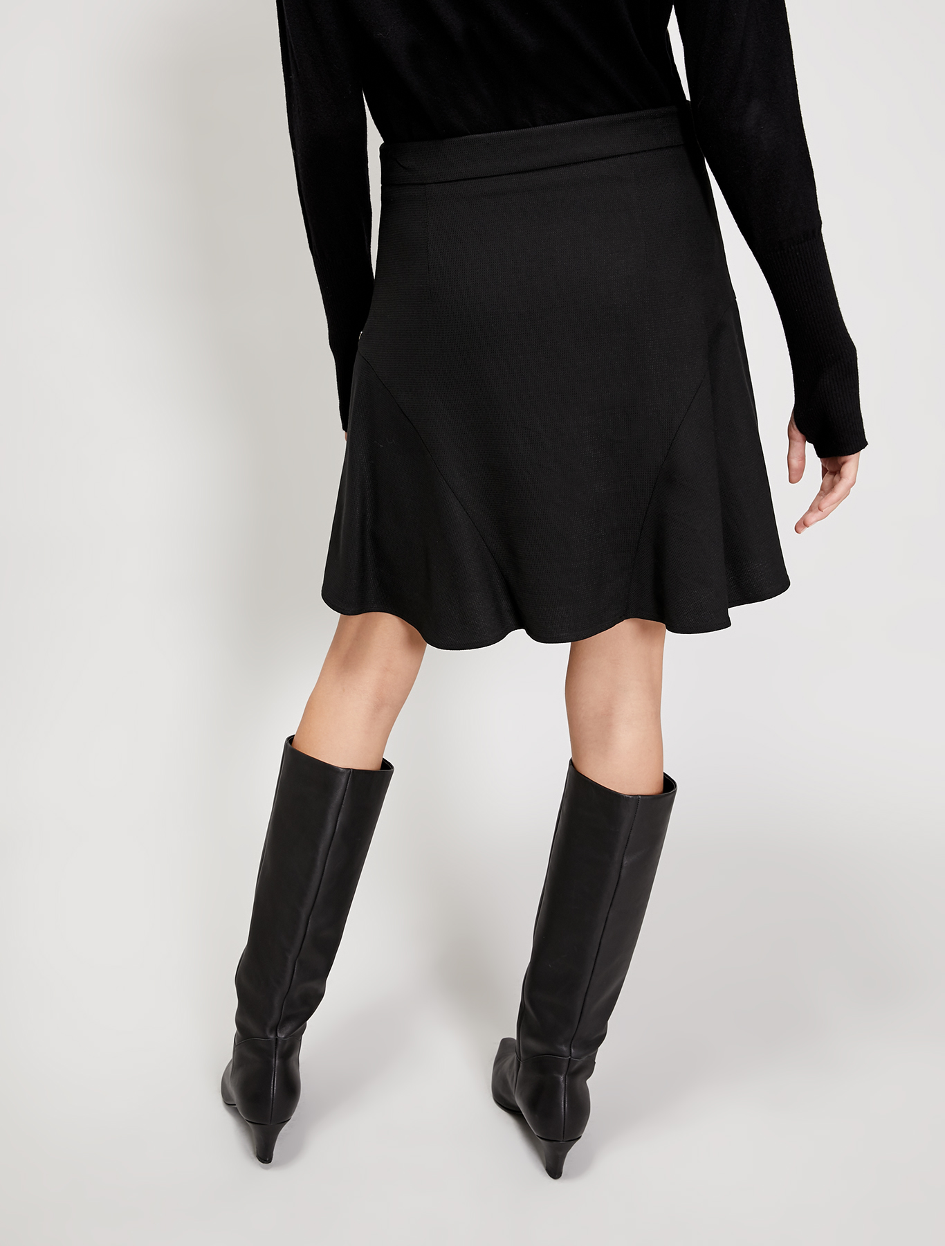 Godet skirt - black - pennyblack