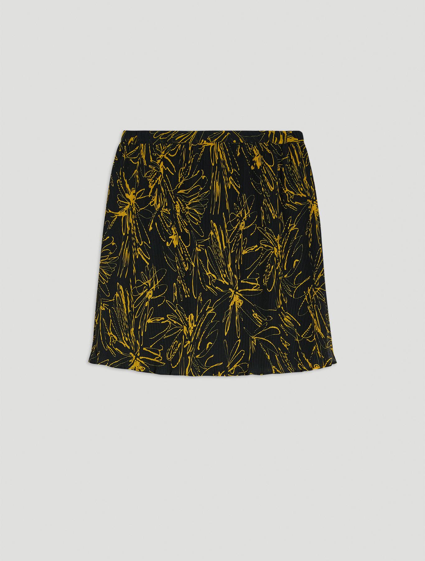 Micro-pleated midi skirt - black pattern - pennyblack