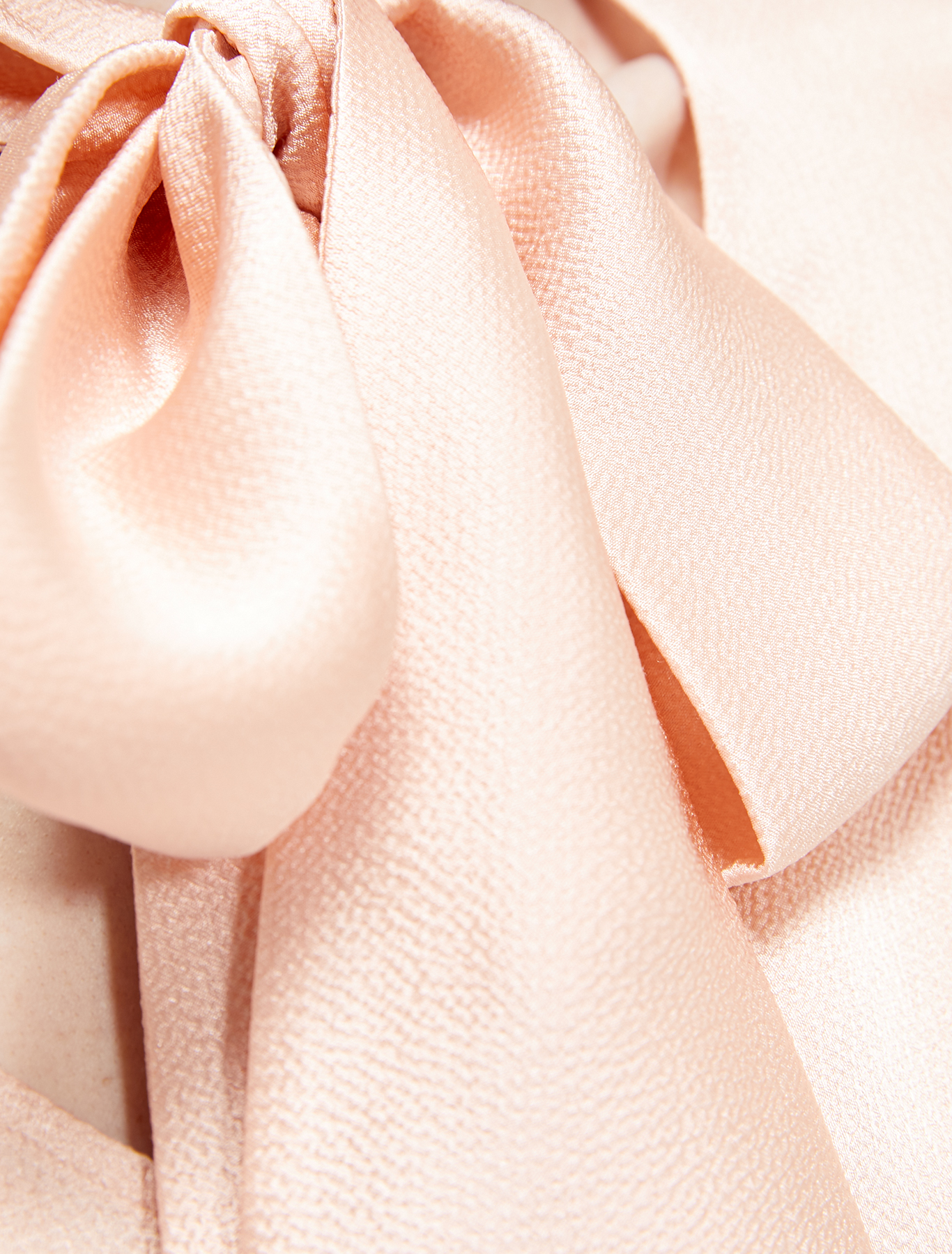 Blouse with neck bow - pink - pennyblack