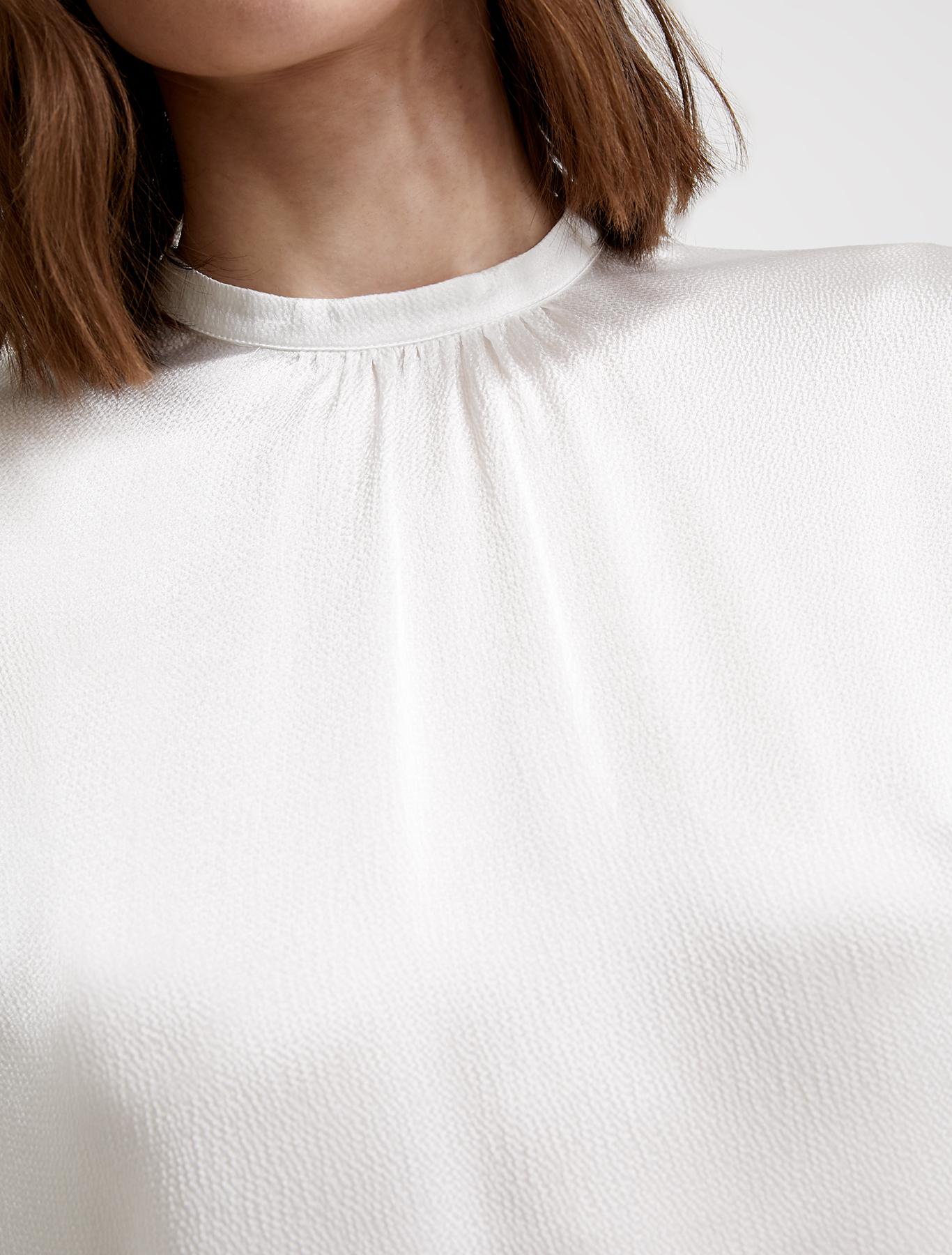 Fluid satin blouse - ivory - pennyblack