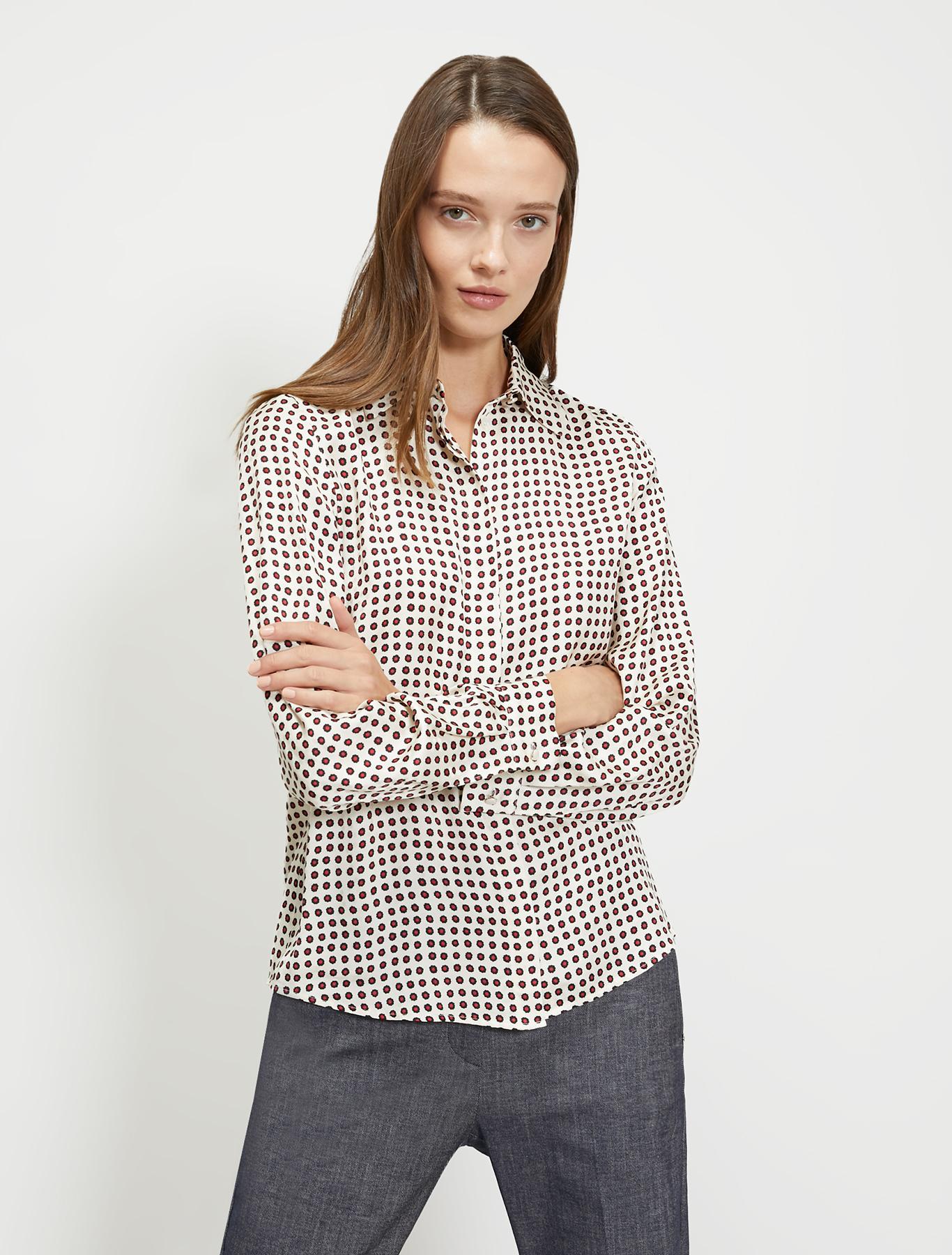 Jacquard patterned shirt - red pattern - pennyblack