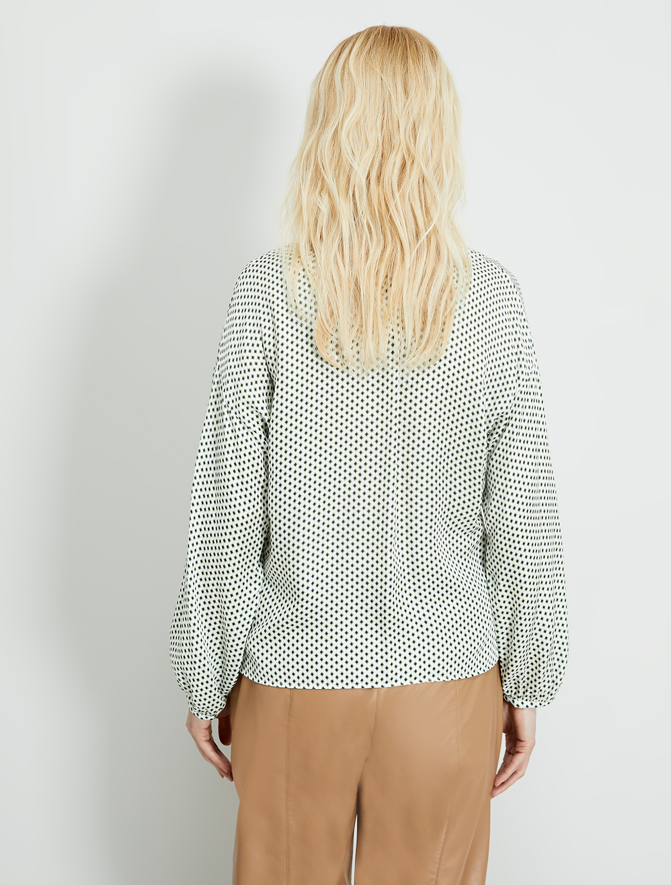 Micro-patterned shirt - olive green pattern - pennyblack