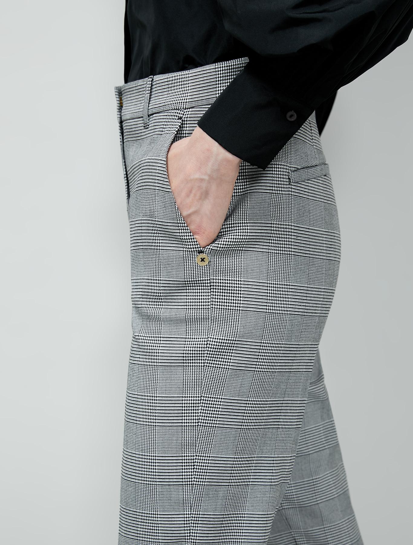 Slim-fit trousers - black pattern - pennyblack