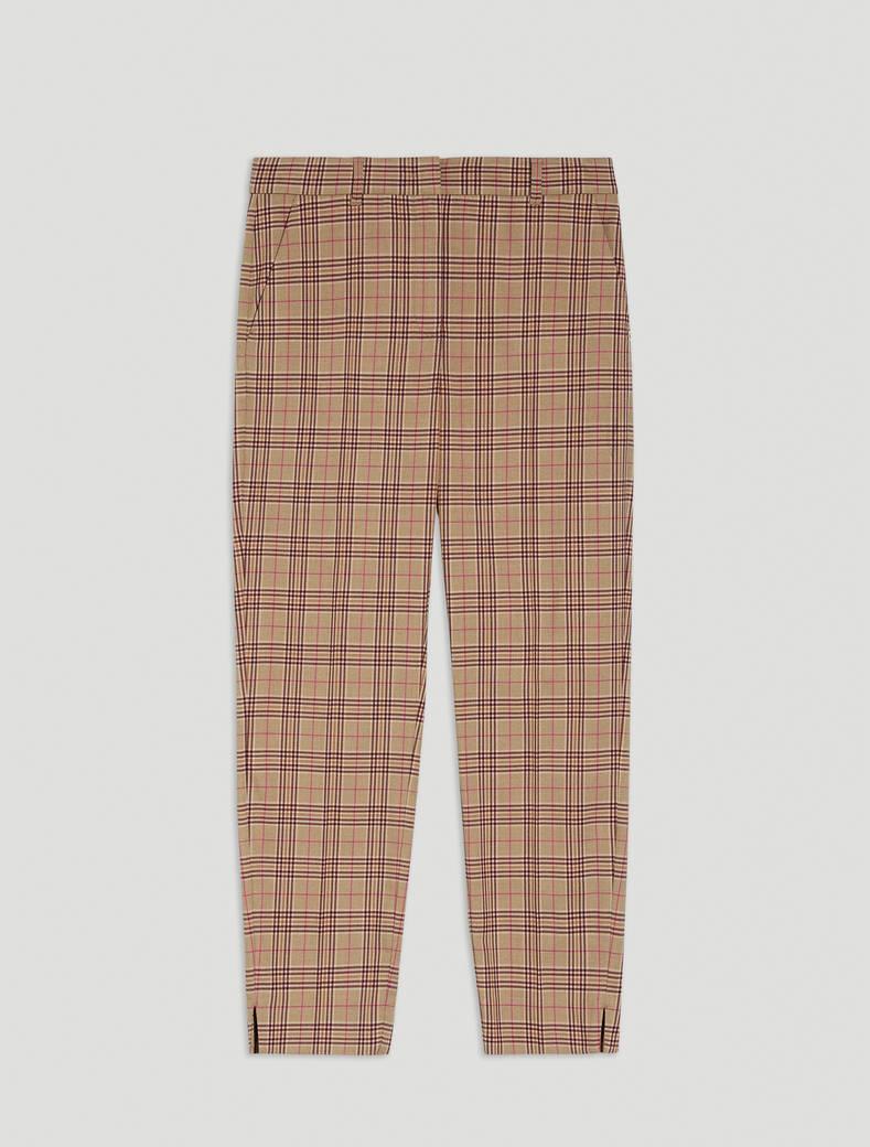 Slim-fit trousers - beige pattern - pennyblack