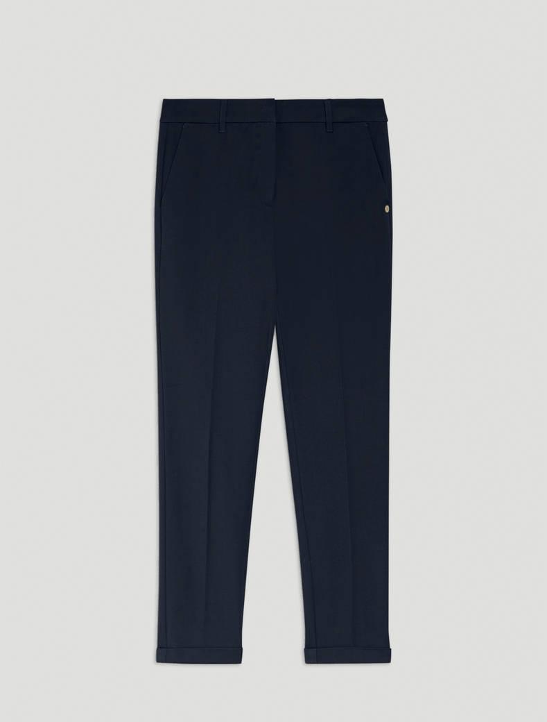 Slim twill trousers - midnight blue - pennyblack