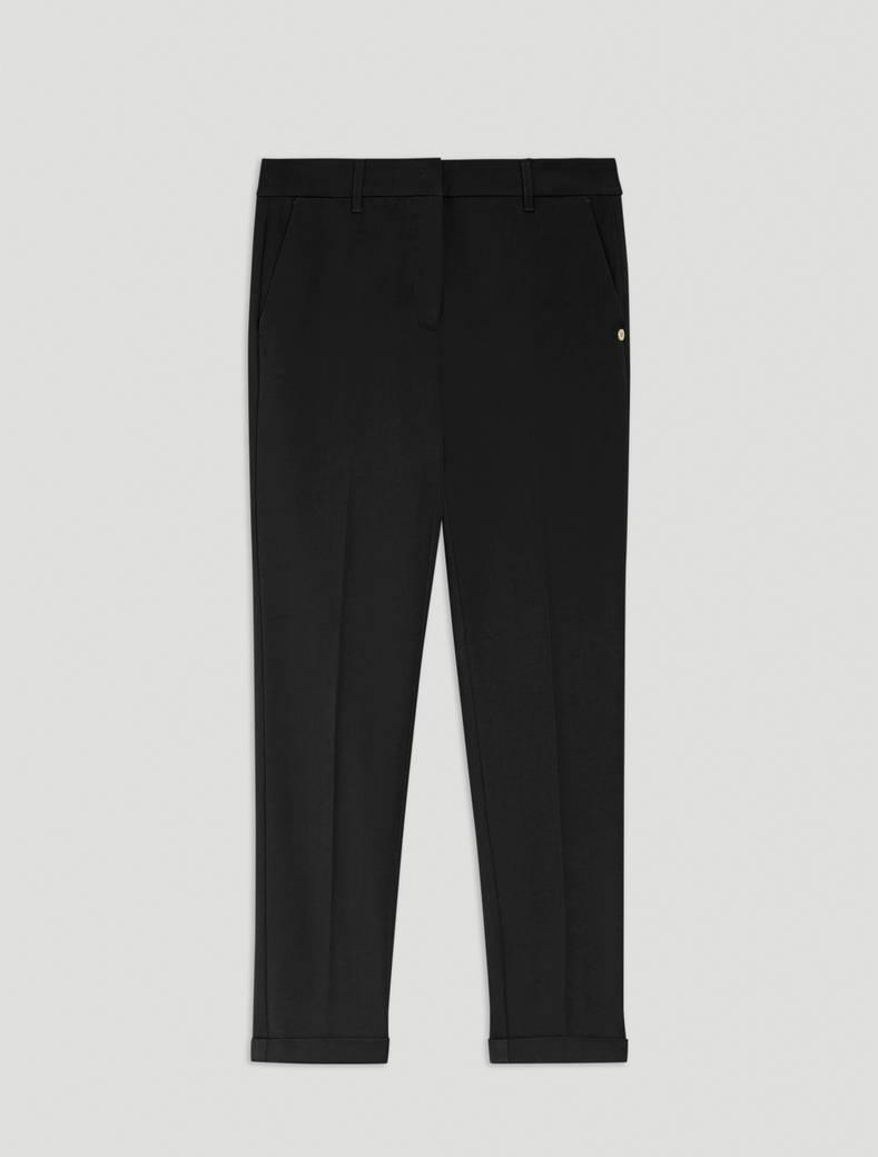 Slim twill trousers - black - pennyblack