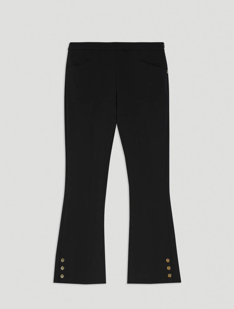 Pantaloni kick-flare fit - nero - pennyblack