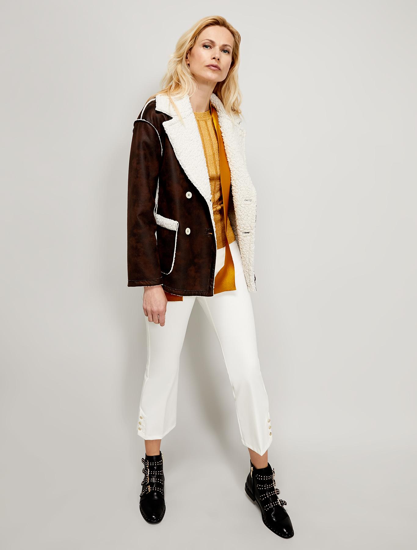 Kick-flare trousers - ivory - pennyblack