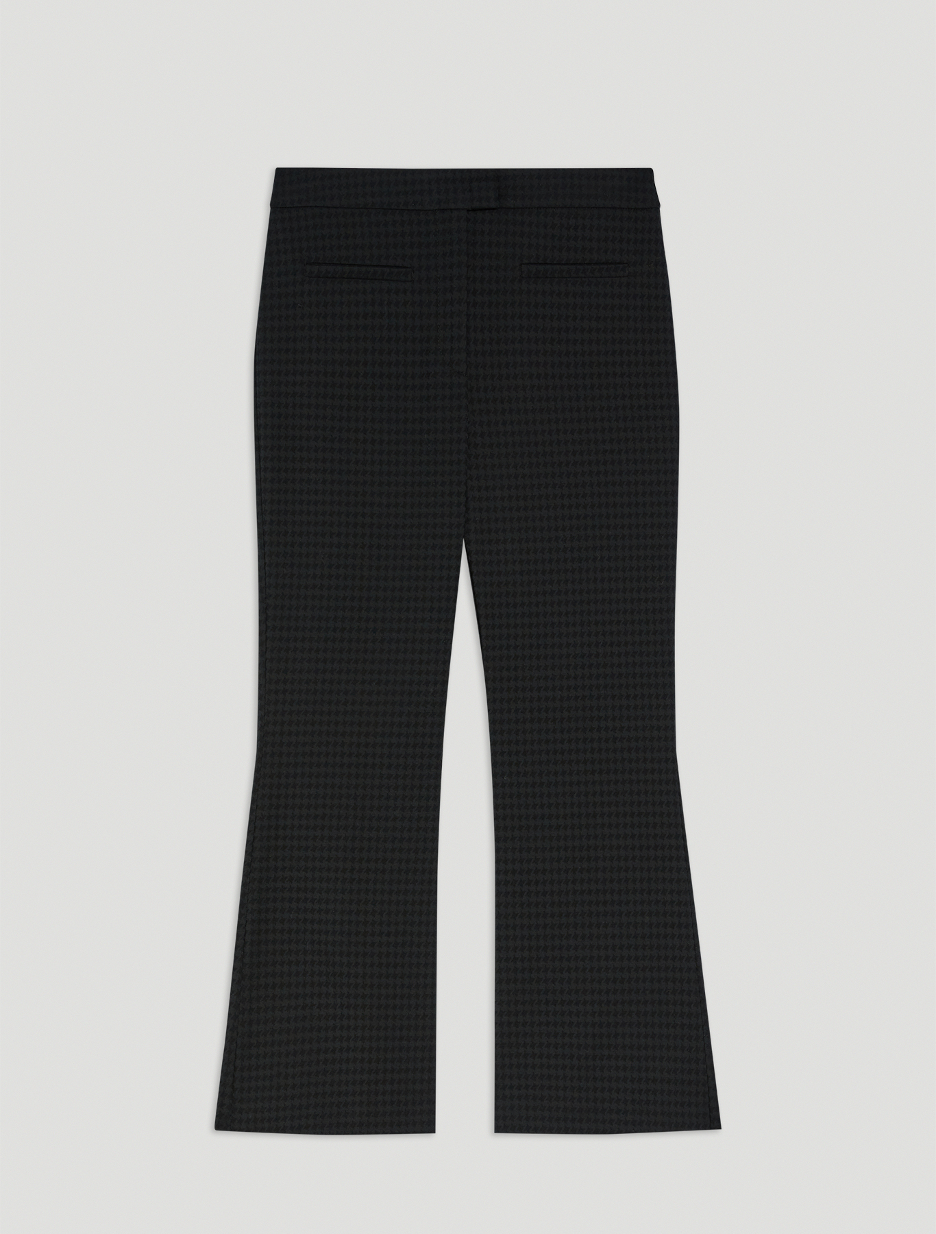 Houndstooth trousers - black - pennyblack