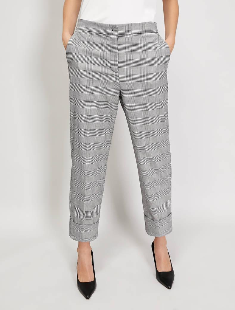 Straight-leg trousers - black pattern - pennyblack