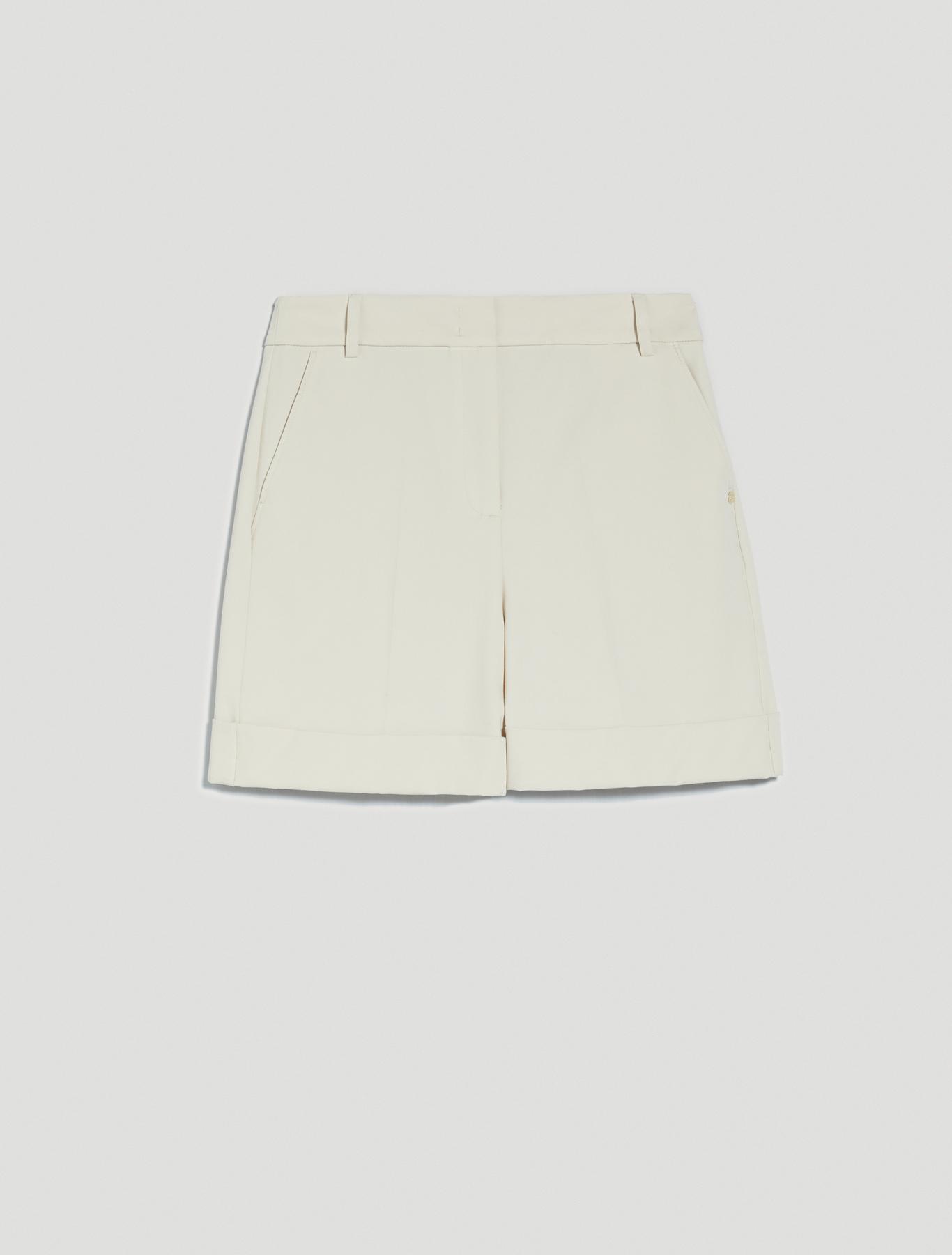 Twill Bermuda shorts - ivory - pennyblack