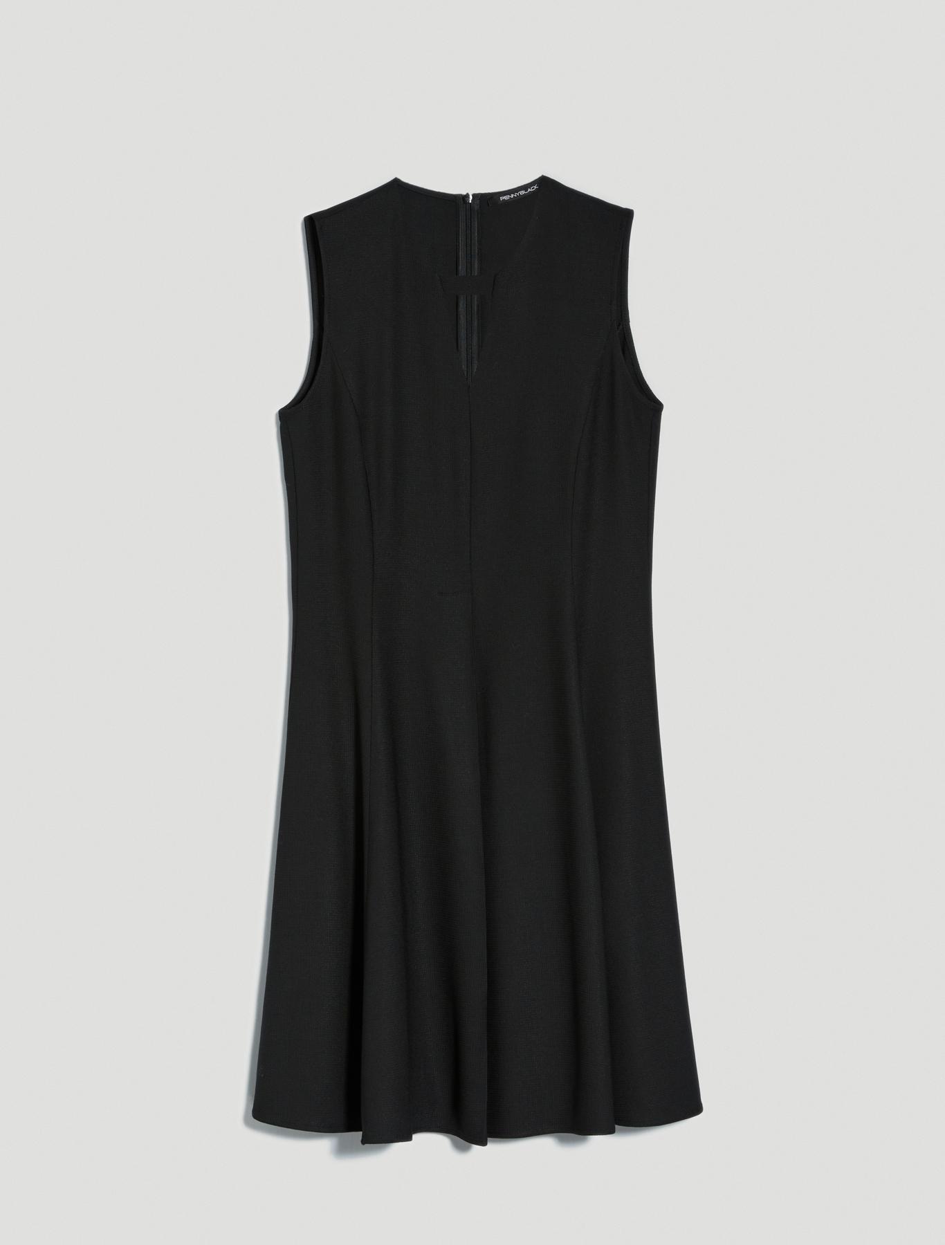 Black dress with inlay - black - pennyblack