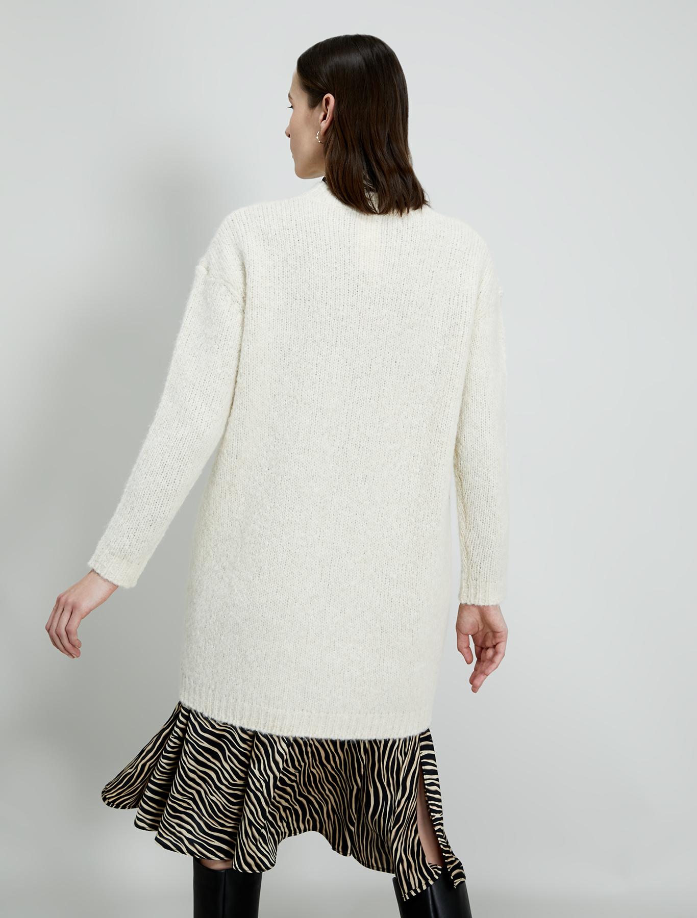 Jumper dress in alpaca and wool - ivory - pennyblack