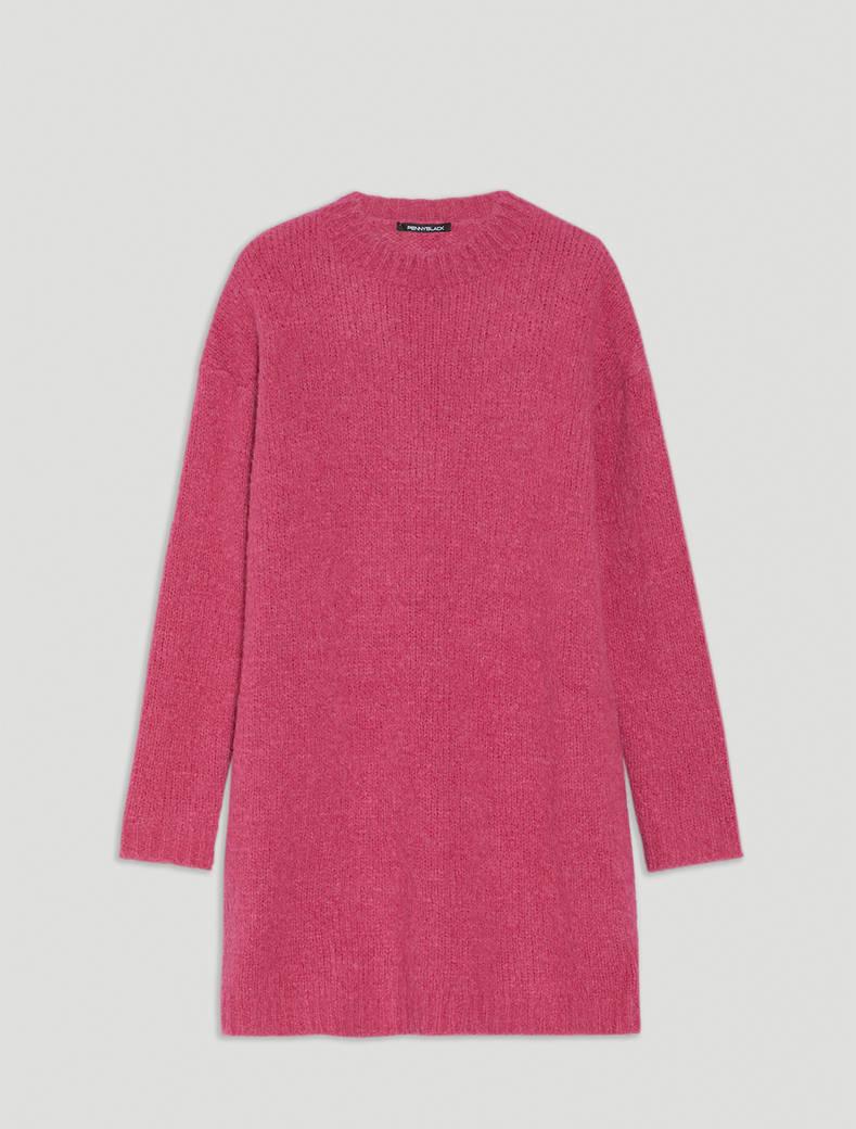 Jumper dress in alpaca and wool - fuchsia - pennyblack