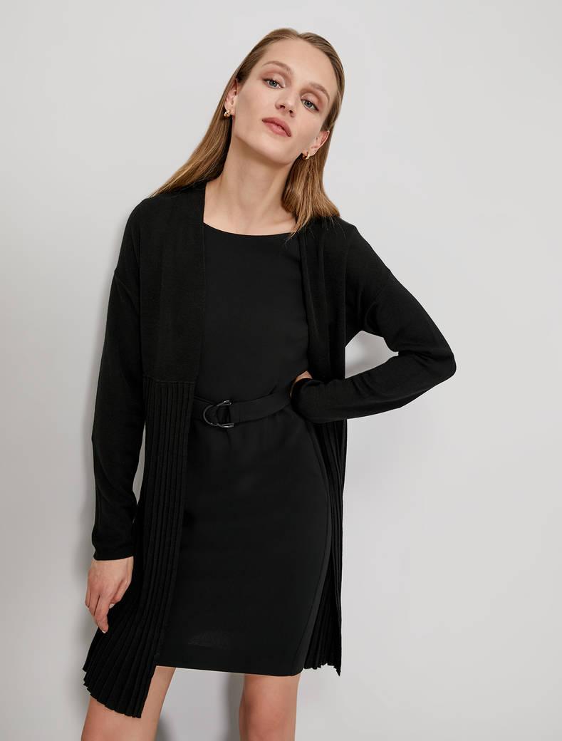 Cardigan with pleats - black - pennyblack