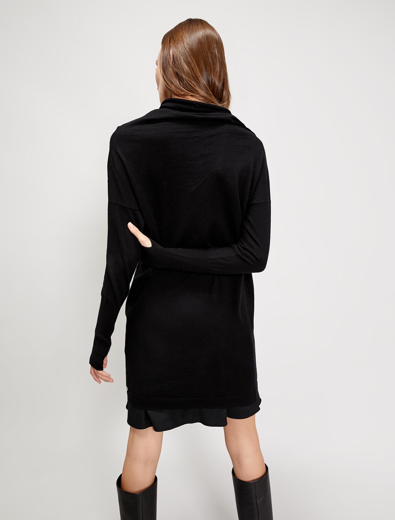 Cotton and cashmere jumper - black - pennyblack