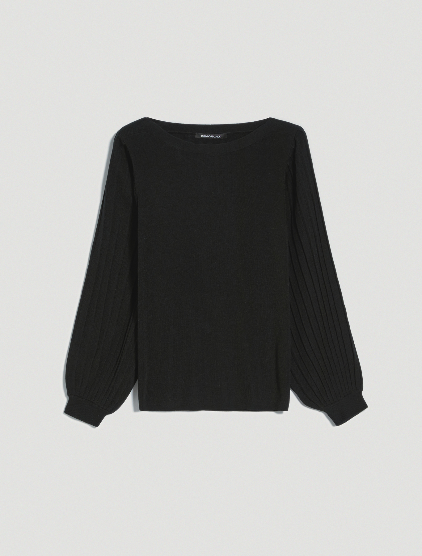 Jumper with puffed sleeves - black - pennyblack