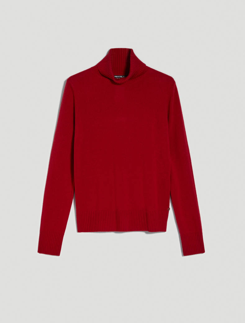 Dolcevita in lana e cashmere - rosso - pennyblack