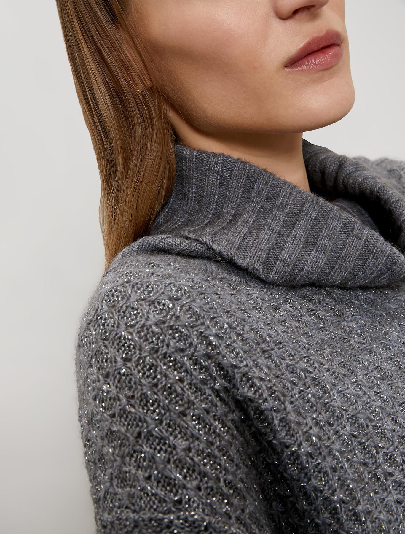 3D-effect pullover - medium grey - pennyblack