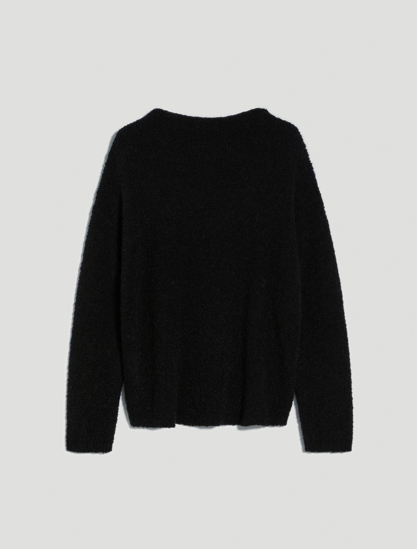 Jumper in bouclé yarn - black - pennyblack