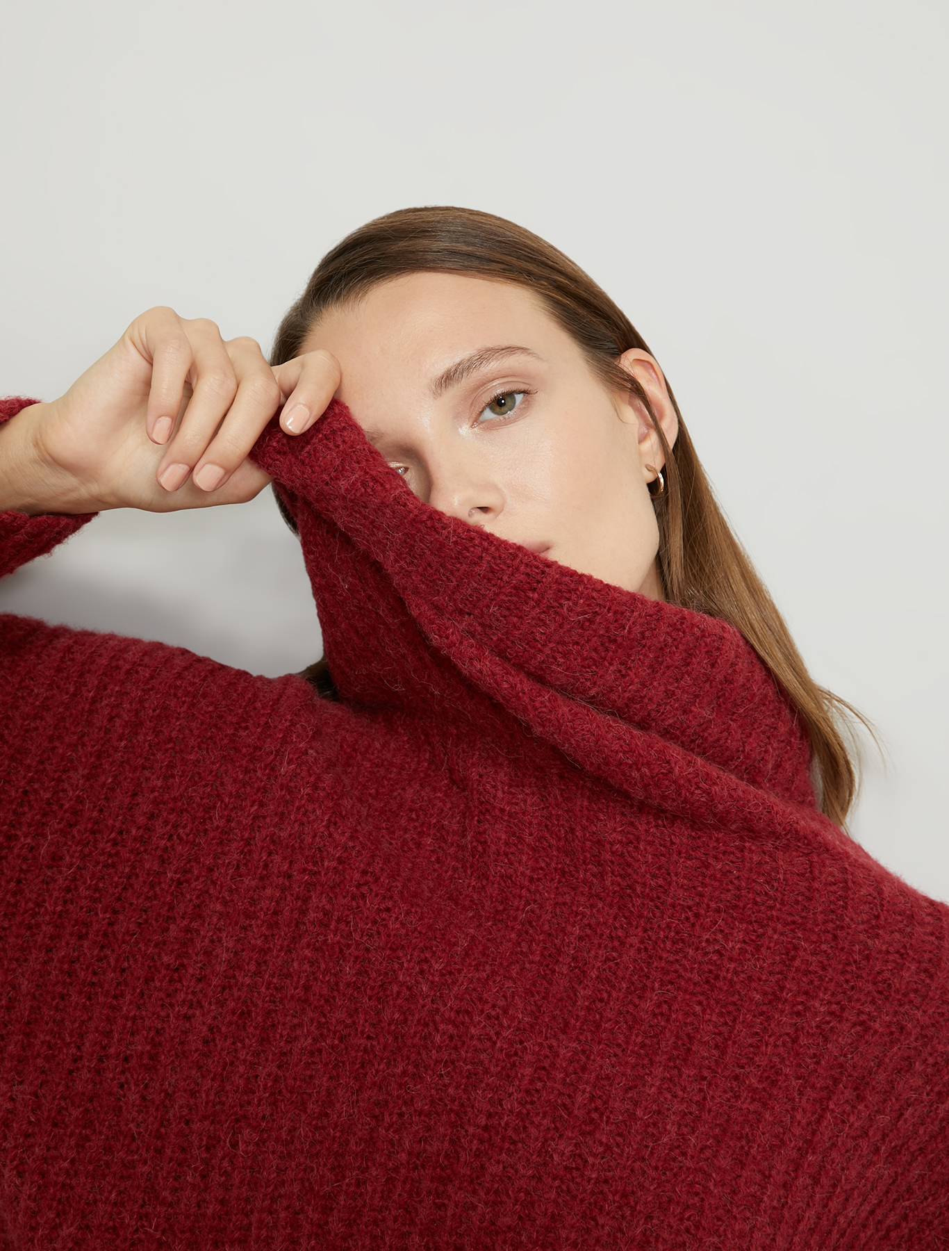 English ribbed pullover - red - pennyblack