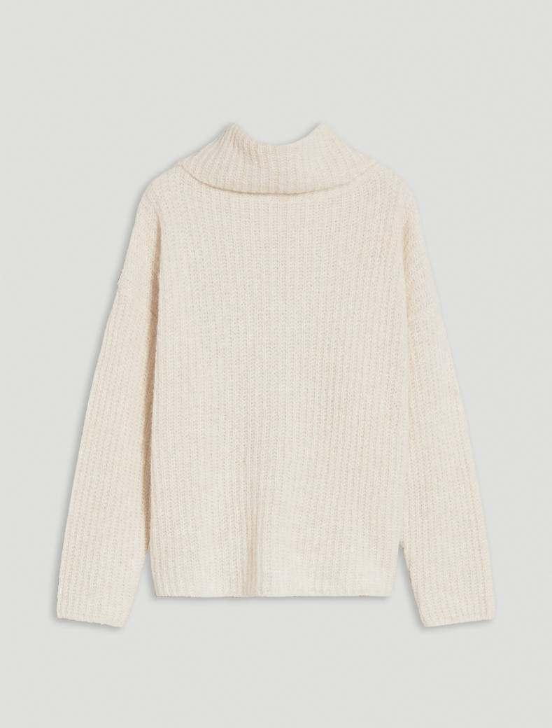English ribbed pullover - ivory - pennyblack