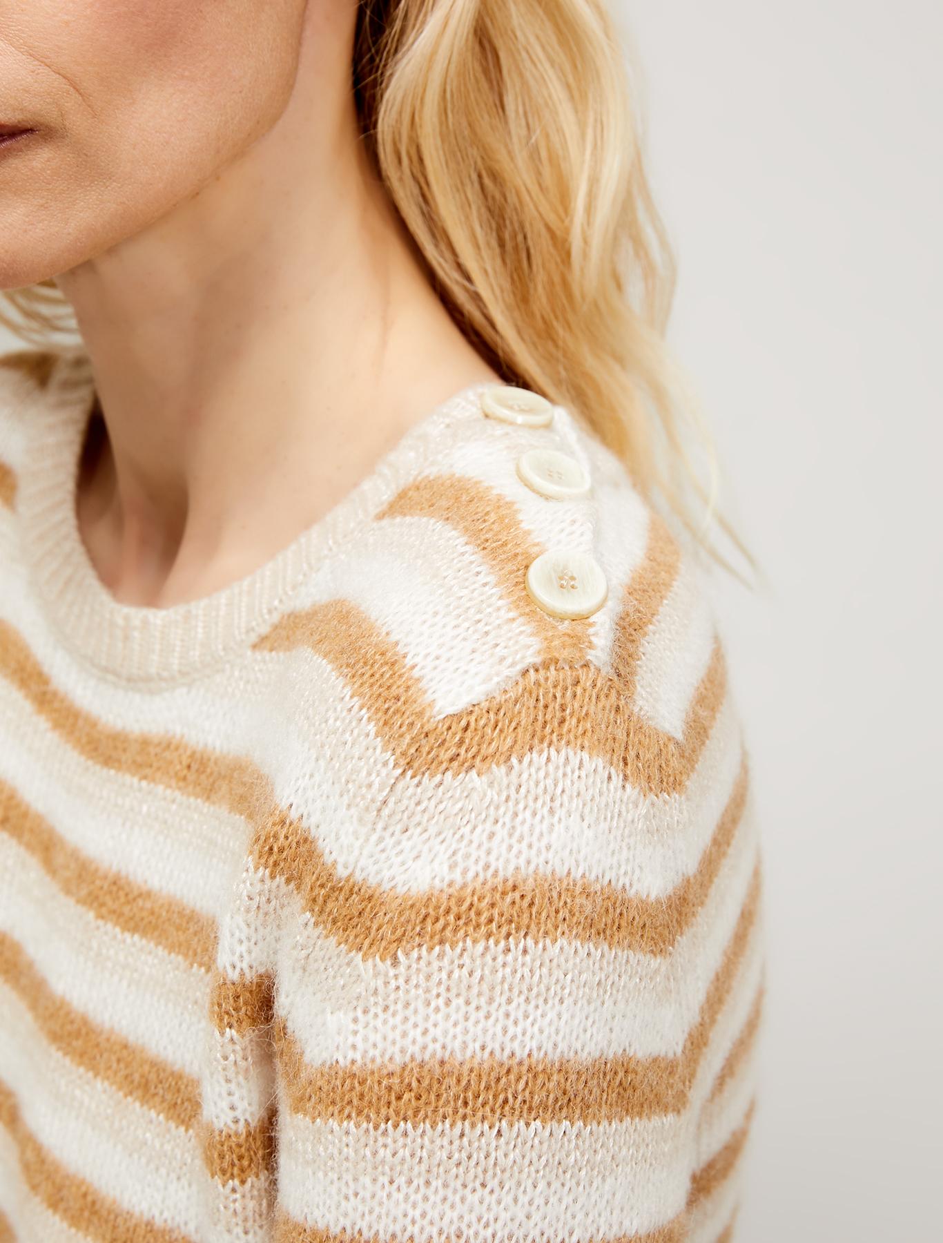 Alpaca and mohair blend jumper - beige - pennyblack