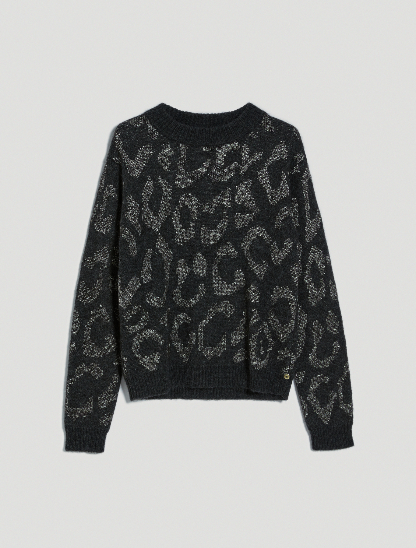 Spotted jacquard pullover - anthracite - pennyblack