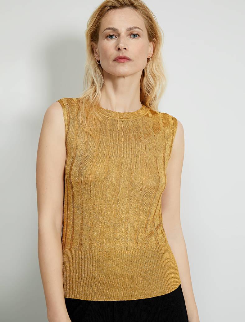 Lamé knit top - sunshine yellow - pennyblack