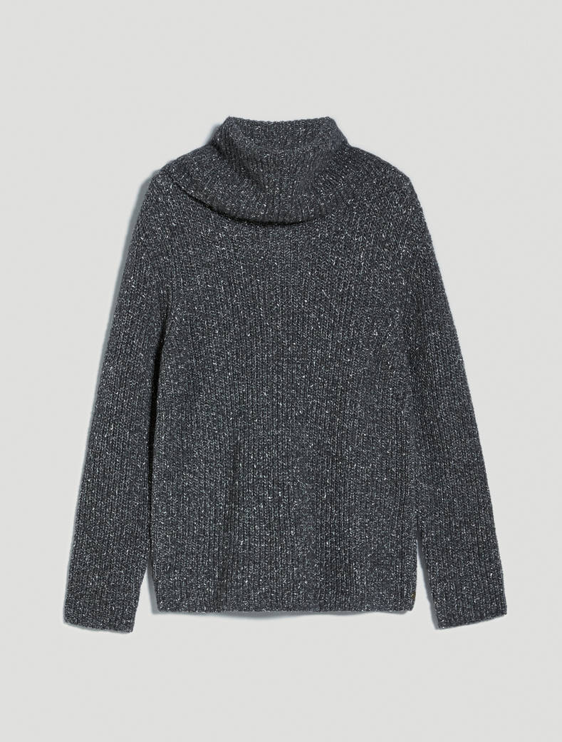 Pull in tweed a coste inglesi - grigio medio - pennyblack