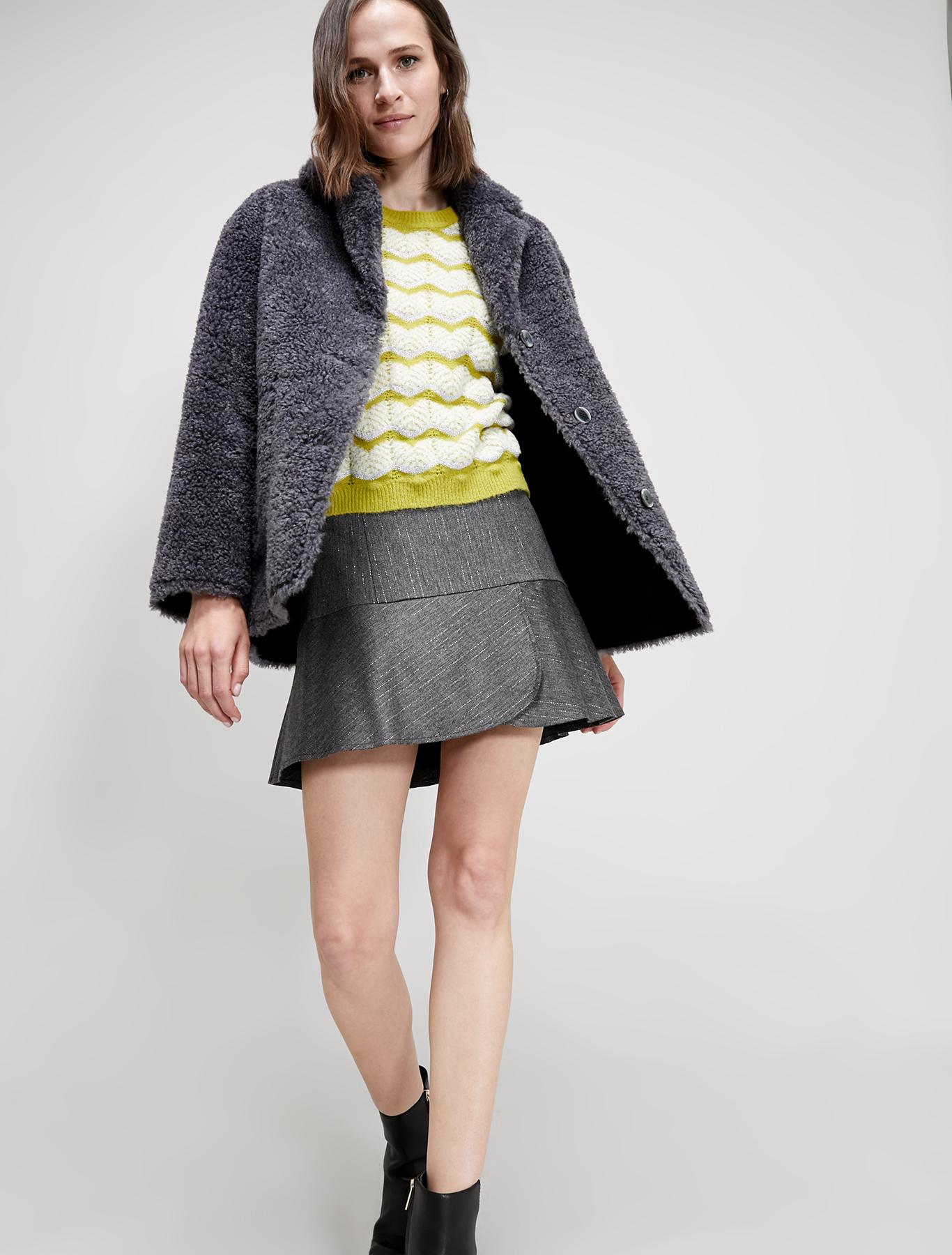 Reversible Teddy coat - medium grey - pennyblack