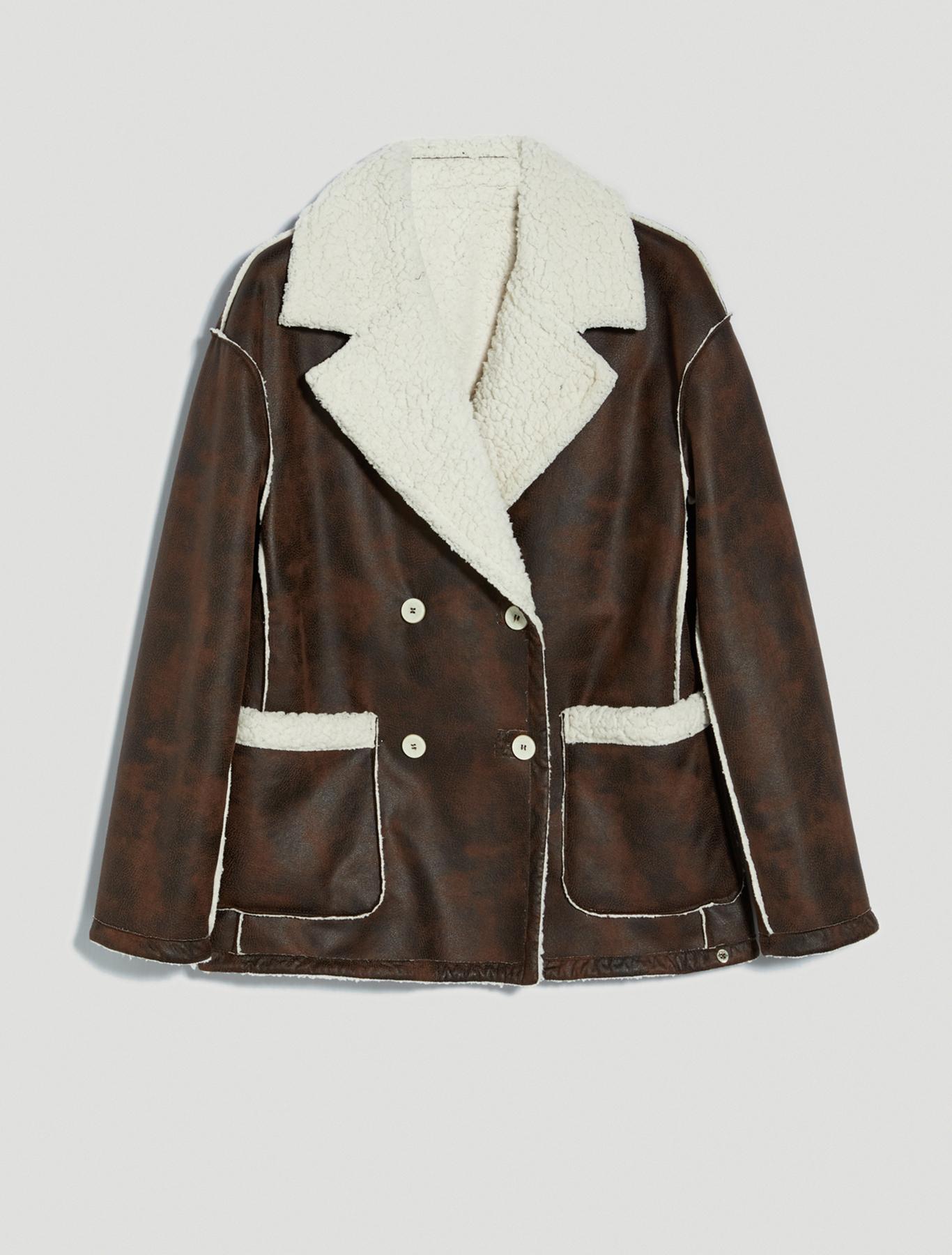 Reversible pea coat - dark brown - pennyblack