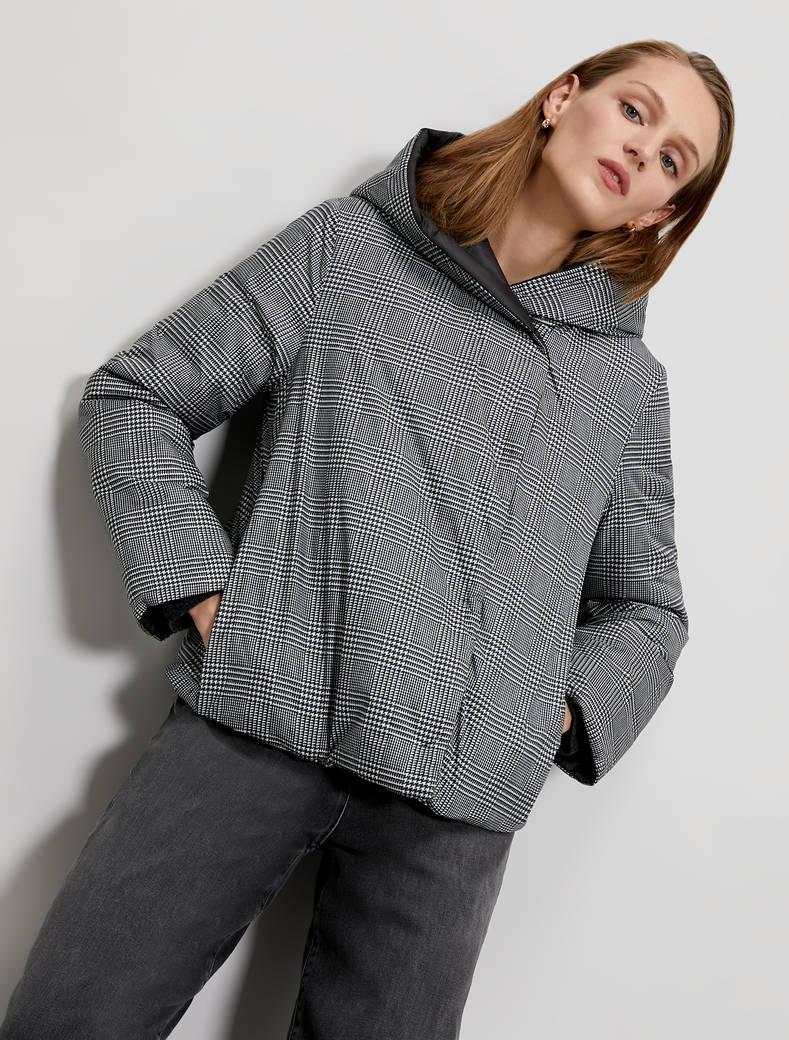 Reversible padded jacket - dark grey pattern - pennyblack