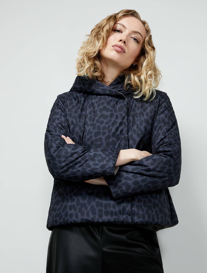 Reversible padded jacket - black pattern - pennyblack