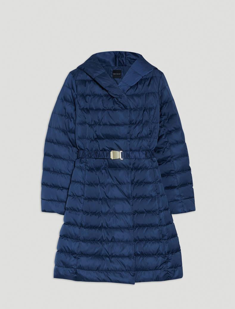 Technical satin down jacket - midnight blue - pennyblack