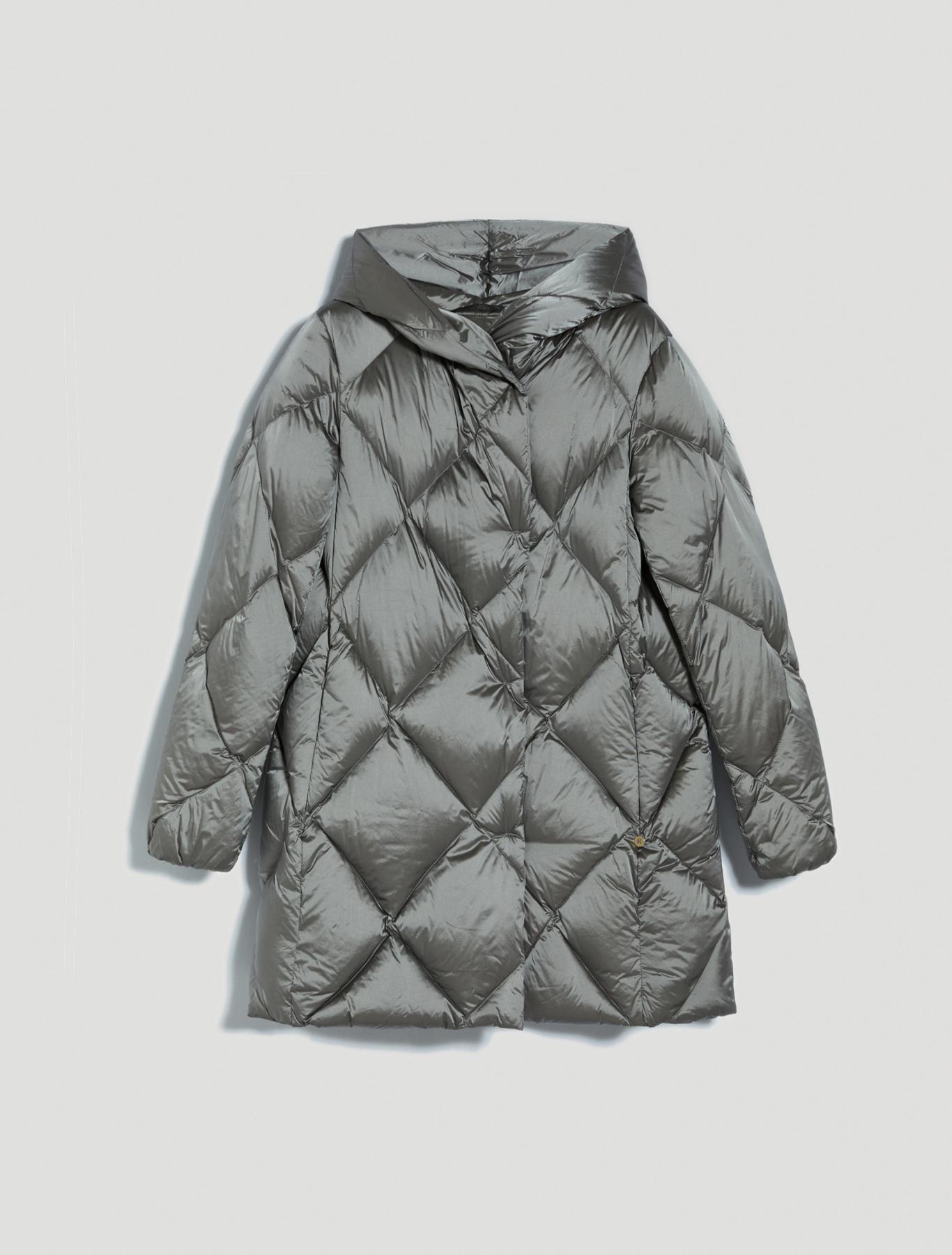 Iridescent nylon down jacket - pearl grey - pennyblack