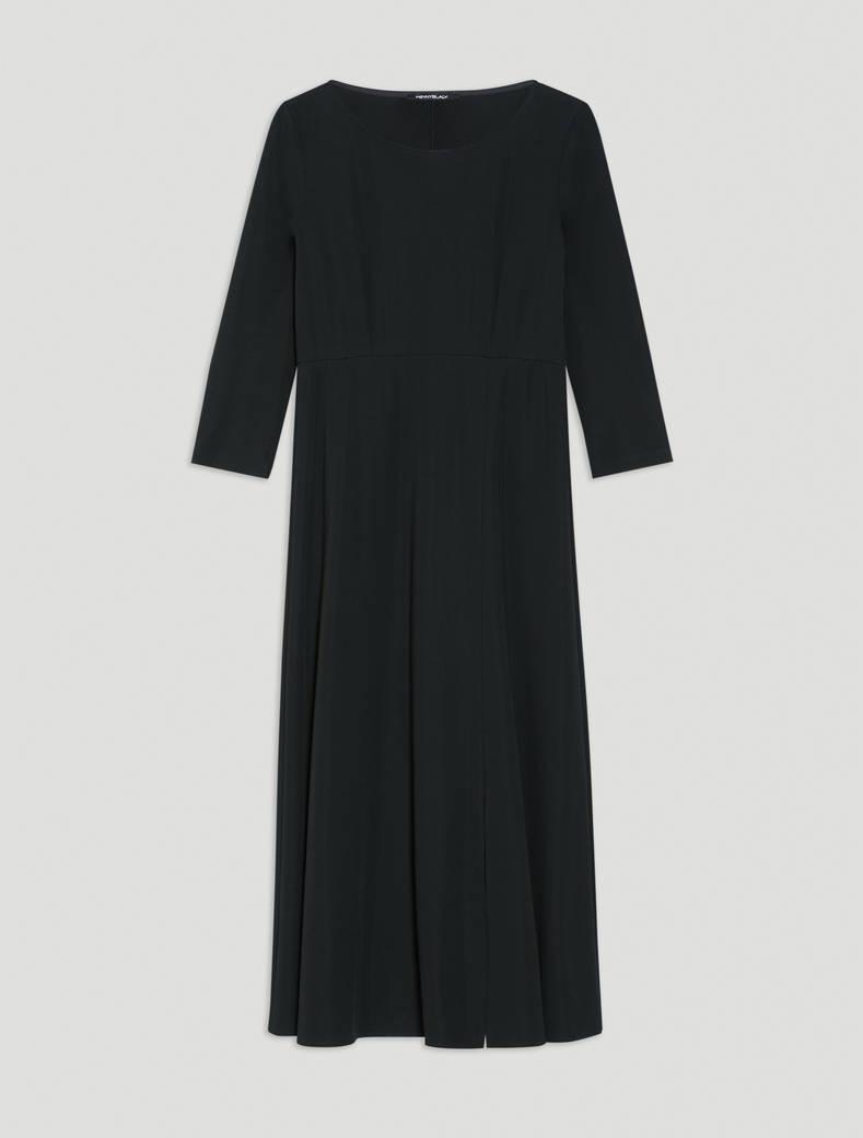 Flowing jersey midi dress - black - pennyblack